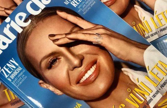 Simona Krainová na obálce Marie Claire. I se svým revolučním beauty drinkem