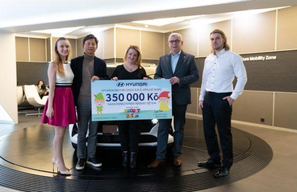 Hyundai Motor Czech začal podporovat Nadační fond Radost dětem